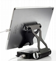 Folding Power Bank Holder portable dual USB charger for tablet with speaker