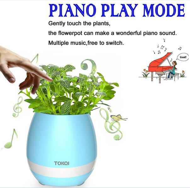 multi-color light smart music flower-pots bluetooth speaker 7