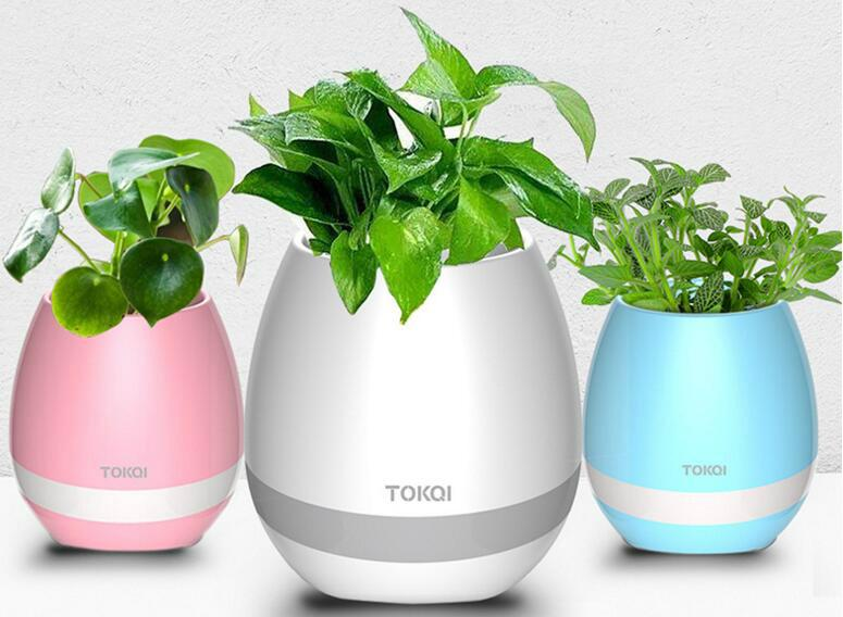 multi-color light smart music flower-pots bluetooth speaker 8