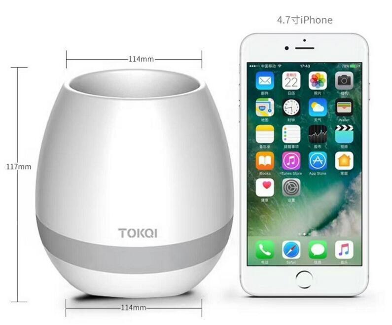 multi-color light smart music flower-pots bluetooth speaker 2