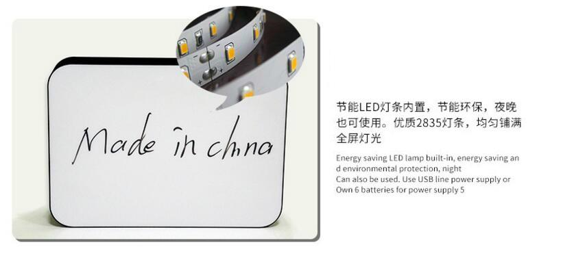 Acrylic street light advertising light box with pens writing 4