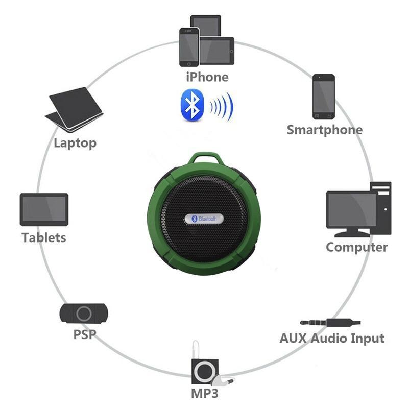 2017 Good design portable handle waterproof bluetooth speaker for outdoor Sports 5
