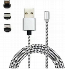 Magnetic cable 360 degree auoto plug round magnetic charging cable (Hot Product - 1*)