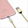 360 Degree Auto Plug Round Magnetic Charging Metal Magnetic Charging Cable