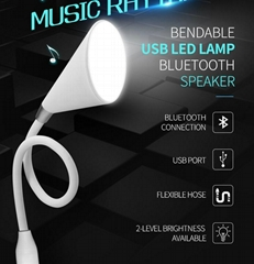 2017 new design Mini USB LED Lamp Bluetooth speakers