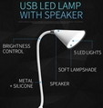 2017 new design Mini USB LED Lamp Bluetooth speakers 9