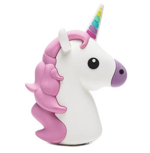 2017 New Creative PVC Cute Cartoon Unicorn Emoji Power Bank with CE FCC ROHS 3