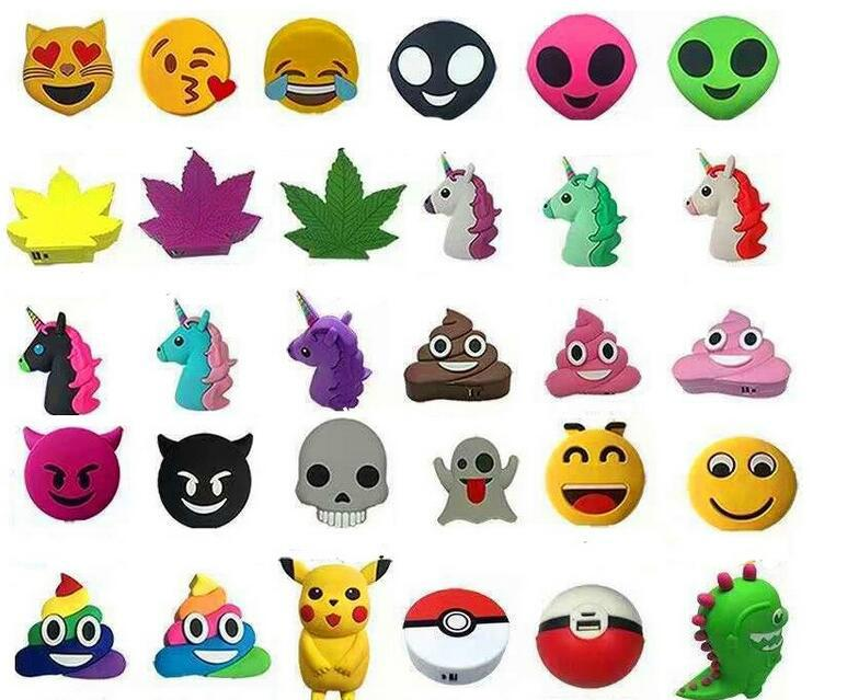 2017 New Creative PVC Cute Cartoon Unicorn Emoji Power Bank with CE FCC ROHS 5