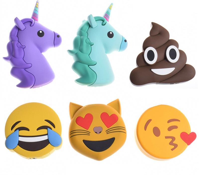 2017 New Creative PVC Cute Cartoon Unicorn Emoji Power Bank with CE FCC ROHS 7
