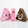 2017 New Creative PVC Cute Cartoon Unicorn Emoji Power Bank with CE FCC ROHS 11
