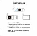 Amazon Hot Sale Slider Aluminum Webcam Cover for Phone &Laptop