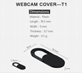 Hot sale amazon high quality ABS Plastic mini computer mobile phone webcam cover 4