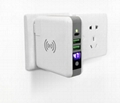 Wholesale universal travel charger Qi wireless mulifunctional power bank 6700mAh 6