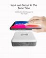 Wholesale universal travel charger Qi wireless mulifunctional power bank 6700mAh 8