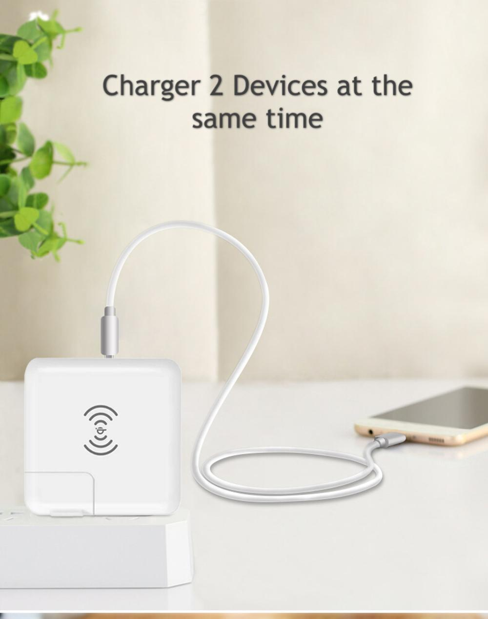Wholesale universal travel charger Qi wireless mulifunctional power bank 6700mAh 10