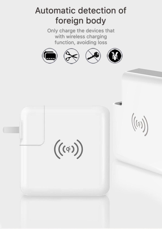 Wholesale universal travel charger Qi wireless mulifunctional power bank 6700mAh 2