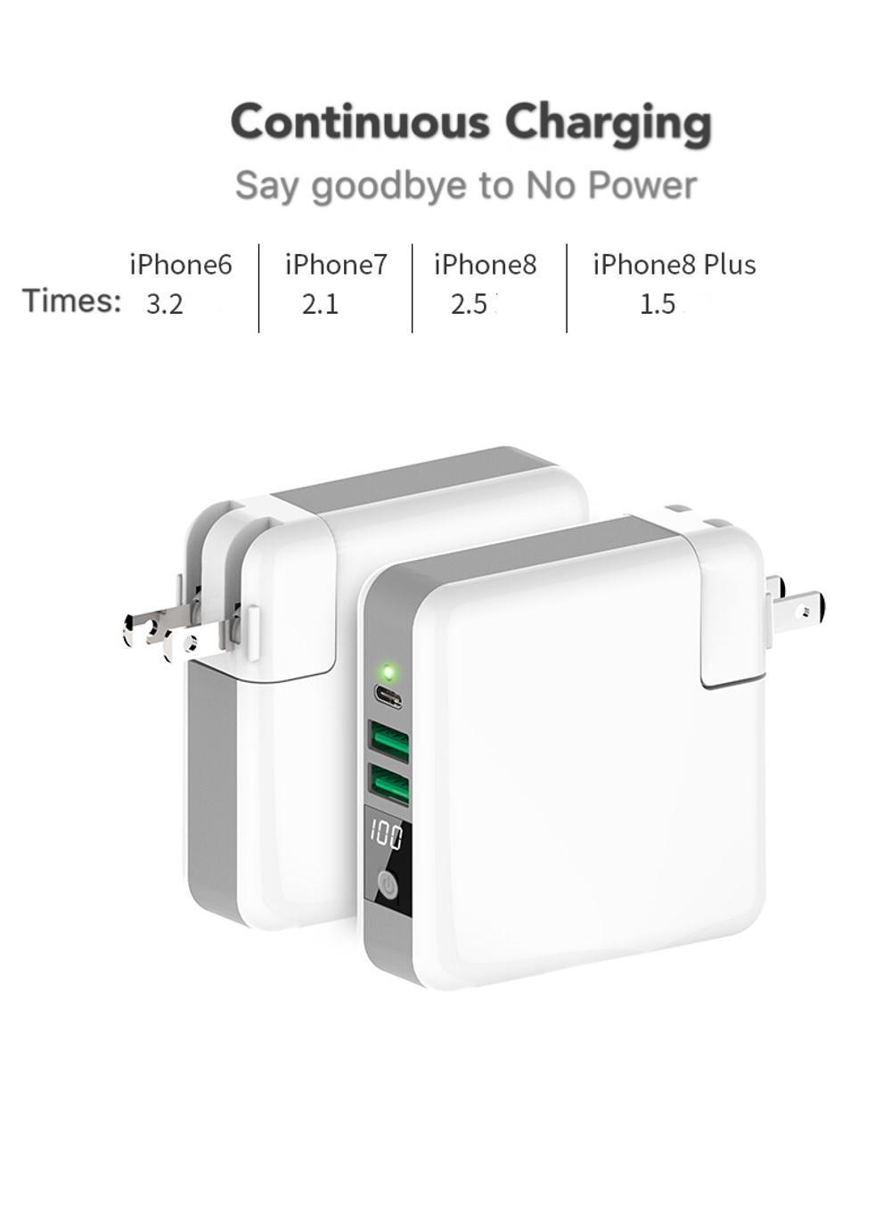 Wholesale universal travel charger Qi wireless mulifunctional power bank 6700mAh 4