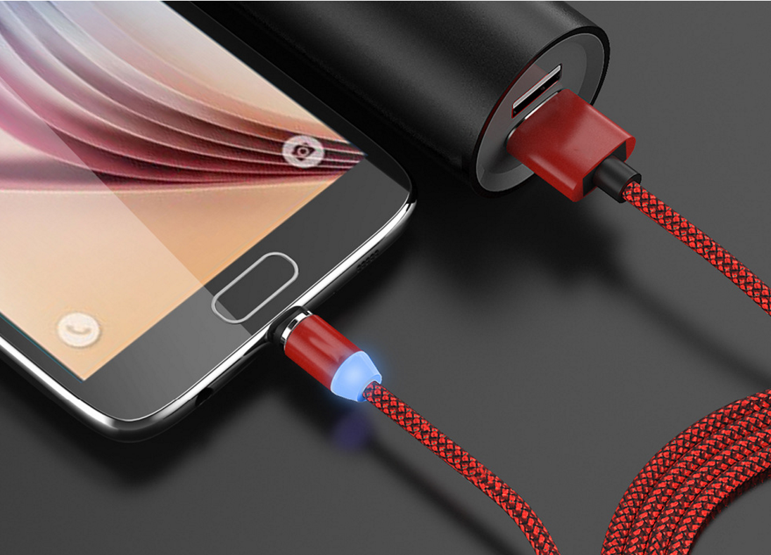 Magnetic cable 360 degree auoto plug round magnetic charging cable 1