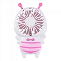 New cute baby bee mini fan usb hand hold fan with night light air conditioner 5