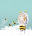 New cute baby bee mini fan usb hand hold fan with night light air conditioner 8