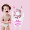 New cute baby bee mini fan usb hand hold fan with night light air conditioner 9
