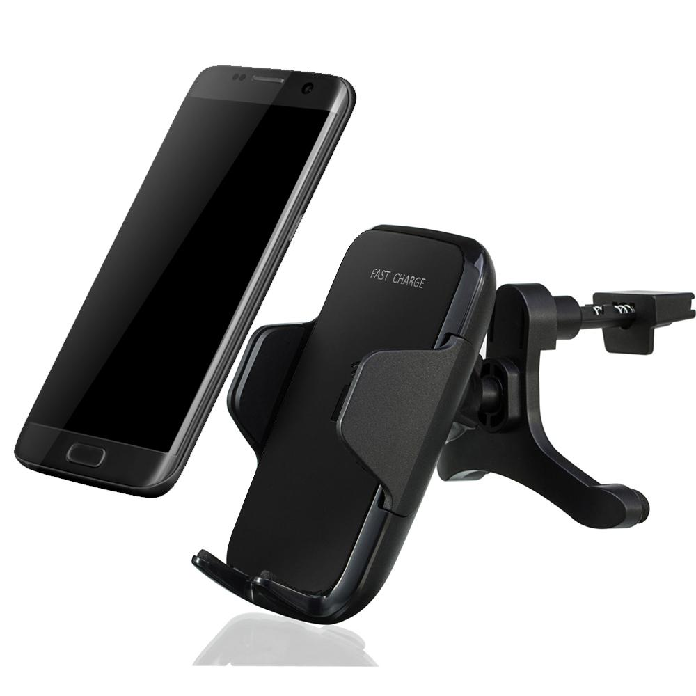 2018 new 10W fast charge qi wireless car charger mount 3