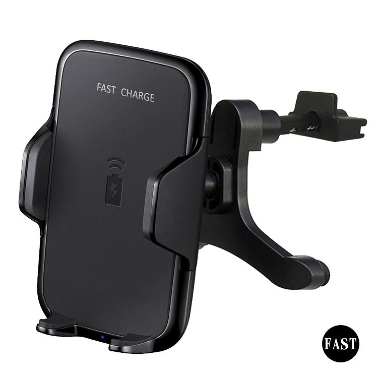 2018 new 10W fast charge qi wireless car charger mount 7