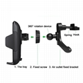 2018 new 10W fast charge qi wireless car charger mount 4