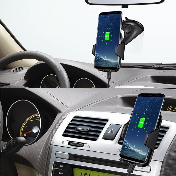 2018 new 10W fast charge qi wireless car charger mount 9