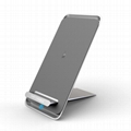 Latest Style Innovative Metal Foldable Wireless Fast QI Charger Of Vertical Supp 5