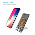 Latest Style Innovative Metal Foldable Wireless Fast QI Charger Of Vertical Supp 6