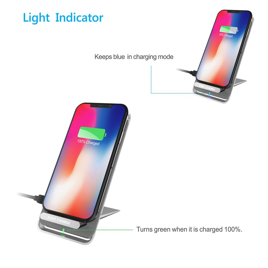 Latest Style Innovative Metal Foldable Wireless Fast QI Charger Of Vertical Supp 8