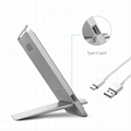 Latest Style Innovative Metal Foldable Wireless Fast QI Charger Of Vertical Supp 2