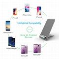 Latest Style Innovative Metal Foldable Wireless Fast QI Charger Of Vertical Supp 10
