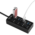 Super Speed 4 port usb hub with ac adapter usb 3.0 hub switches and LED 5