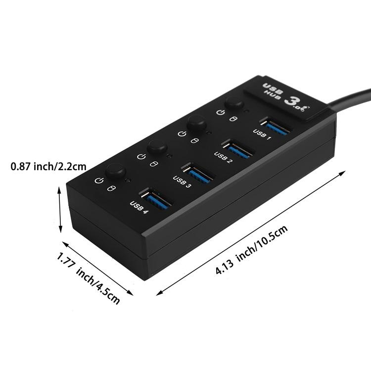 Super Speed 4 port usb hub with ac adapter usb 3.0 hub switches and LED 11