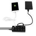Super Speed 4 port usb hub with ac adapter usb 3.0 hub switches and LED