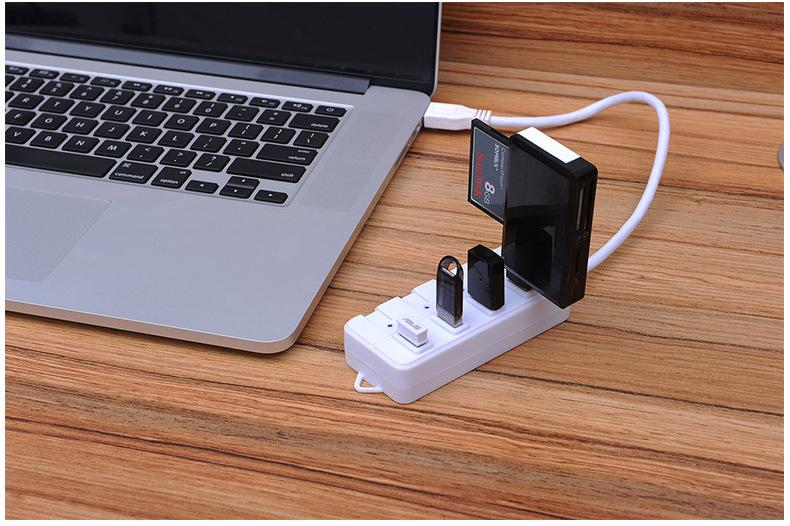 Super Speed 4 port usb hub with ac adapter usb 3.0 hub switches and LED 15