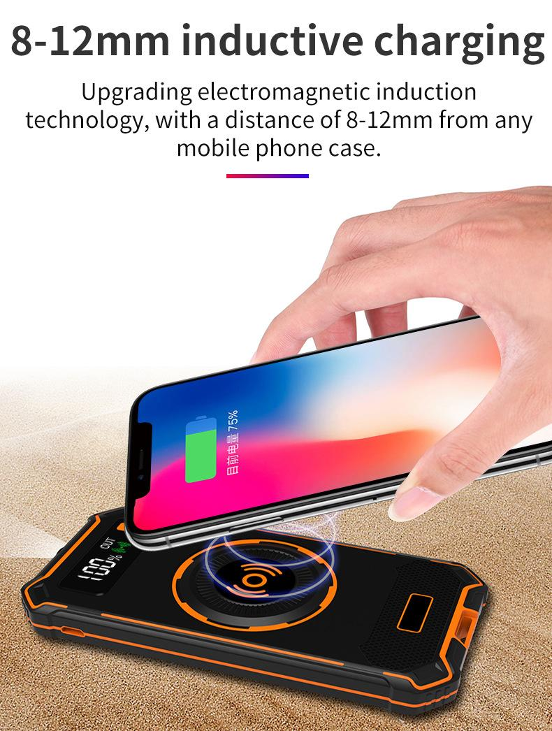 2018 Military Design Wireless Charger Outdoor Anti-Shock Power Bank 10000mAh 9