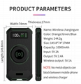 2018 Military Design Wireless Charger Outdoor Anti-Shock Power Bank 10000mAh 16