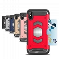 Armor mobile phone case with magnetic car mount card slot 2in1 tpu cell phone S9