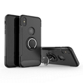 Carbon Fiber 360 Degree Rotation Phone Ring Holder Hybrid Phone Case with hole