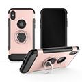 Carbon Fiber 360 Degree Rotation Phone Ring Holder Hybrid Phone Case with hole
