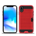 Brushed armor hybrid combo case tpu pc credit card slot case for iphone 9