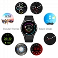Luxury Round Screen Heart Rate Monitor WiFi GPS 3G WCDMA KW88 Smart Watch