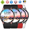 Luxury Round Screen Heart Rate Monitor WiFi GPS 3G WCDMA KW88 Smart Watch