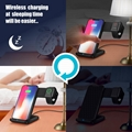 2 in 1 Qi Wireless Fast Charger Dock Station Stand For Watch/Phone Samsung S9 S8