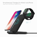 Qi Wireless Fast Charger Dock Station Stand 2 in 1 For Watch/Phone Samsung S9 S8
