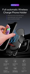 Newest Infrared Sensor Fully Automatic 10W Fast Wireless Charger Car Mount Vent