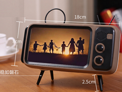 Newest Wholesale Wireless Speaker Classic TV Speaker with Mobile Phone Holder